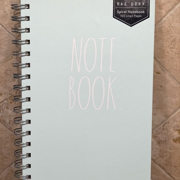 NEW Rae Dunn Mint Green 'NOTE BOOK',
